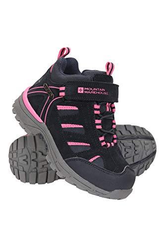 Mountain Warehouse Drift Junior Stiefel für Kinder - Wasserfeste Wanderstiefel, strapazierfähig, atmungsaktiv,mit griffiger Sohle Marineblau Kinder-Schuhgröße 27 DE