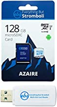 Everything But Stromboli 128GB Azaire MicroSD Memory Card for Samsung Galaxy Tablet Works with Tab S3 9.7, Tab E 9.6, Tab A 10.5 Speed Class 10 U3 UHS-1 SDXC Card Bundle with (1) Micro SD Card Reader