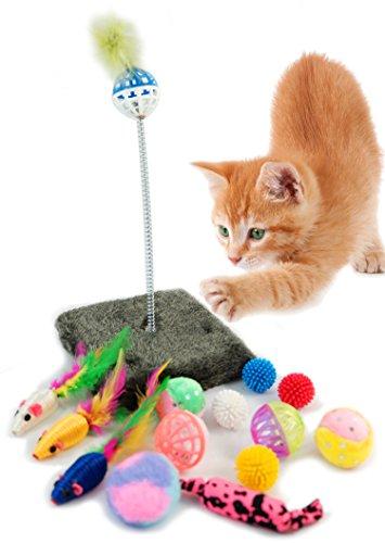 BPS® Paquete de Juguetes para Gatos Gatito Juguetes Interactivo Juguete de Atracciones Colores se envia al Azar BPS-3264*1