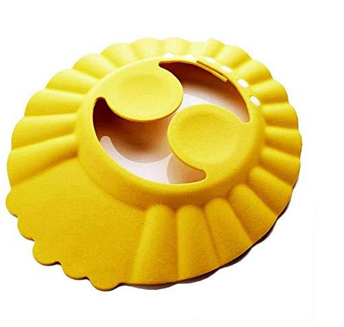 Bonnet de bain - enfant - bain - confortable - douche - protection oculaire - oreilles douces - bonnet de bain bébé - réglable - idée cadeau originale jaune - coloré