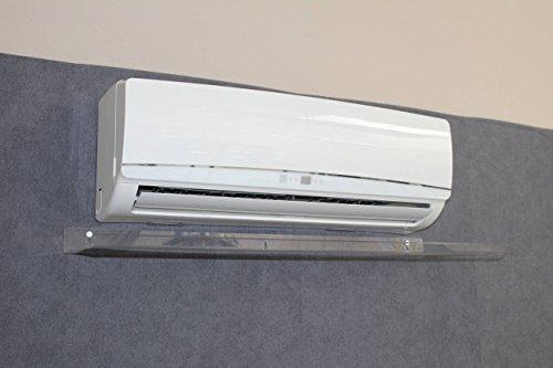 Deflettore Aria per Split Climatizzatore Trasparente Nuovo modello Design - DIMENSIONI DEFLETTORE: 1100x300x30