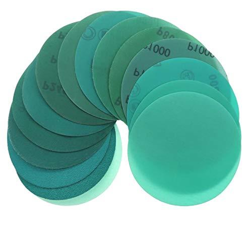 YONIK 耐水ペーパー サンドペーパー 丸型 フィルム研磨材 サンダー用 プラスチック やすり 耐久 10枚セット 125mm (120 180 240 320 400 600 800 1000 1500 2000)