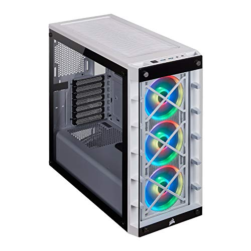 Corsair iCUE 465X RGB Mid-Tower ATX Smart Case, White (CC-9011189-WW)