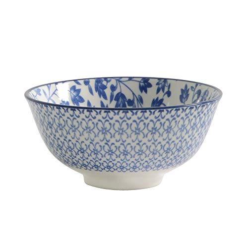 ProCook Porzellan - tiefe chinesische Reisschale - blau - Small