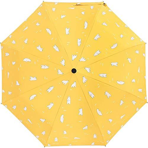 Paraplu van de Koreaanse kleine frisse mannen, vrouwen-reis-paraplu, vrouwelijke zonnige en regenachtige paraplu, karikatuur jongens-regengang
