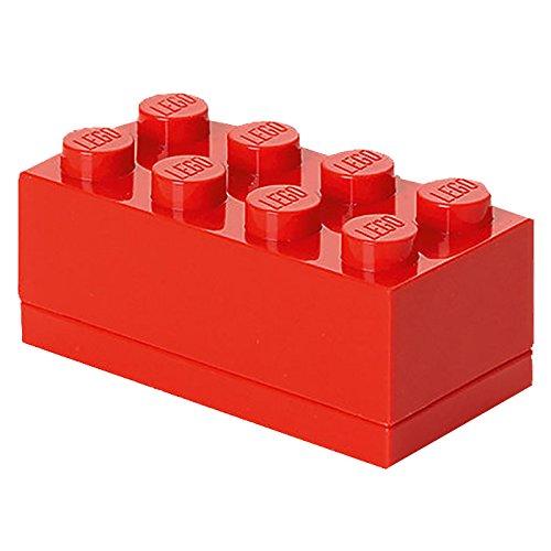 Room Copenhagen Minicaja de 8 espigas de Lego, Caja para tentempiés, Rojo, 8 knobs