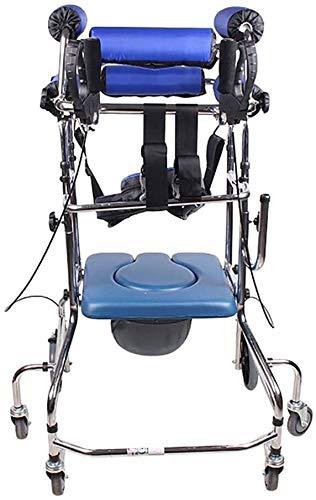 LYP Andador Rollator Walker/pie Caminar Rack/Asistencia discapacitados Caminar Sit Silla de Ruedas de Seis Rondas de Freno de Mano y Aseo, for los Miembros Inferiores Formación Rehabilitación ✅