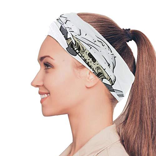 Rtosd Cartoon schädel Toque Messer elastische stirnbänder Head wrap schal Sport schweißband Gesichtsmaske Magic schal Haarschmuck Bands Krawatten für Frauen mädchen Laufen Fitness Yoga
