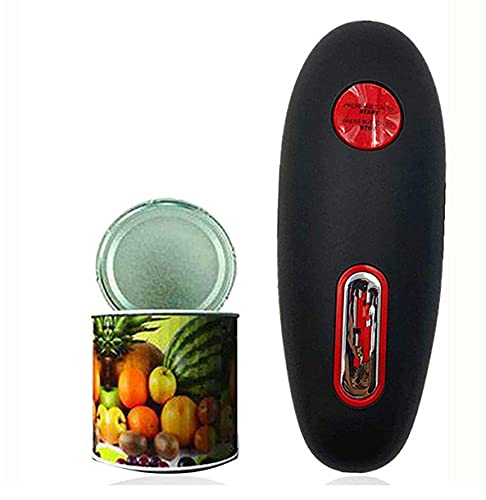 Electric Can Opener: Safe and Smooth, Without Sharp edges, Can Open All Standard Sizes and Cans, The Best Gift for Women, Hand-held Can Opener (Black)