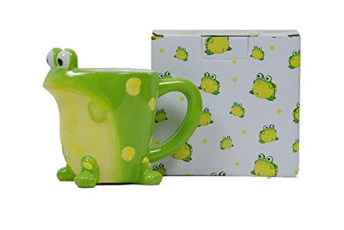 Burton & Burton Toby The Toad Frog Coffee Mug Adorable Mug with Gift Box