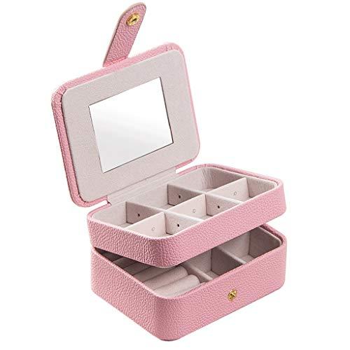 Caja Joyero Caja de Joyas Caja de joyería portátil Simple Pulsera Collar Pendientes Anillo Reloj Caja de Almacenamiento Viaje Esencial Ewelry Organizer