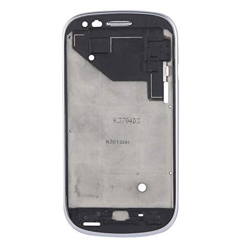 BEIJING  SCREENCOVER+ / Tablero Medio LCD con Cable de botón, para Galaxy Siii Mini / i8190, Reemplazo LCD Placa Placa ATRÁS BIELEL (Color : Silver)