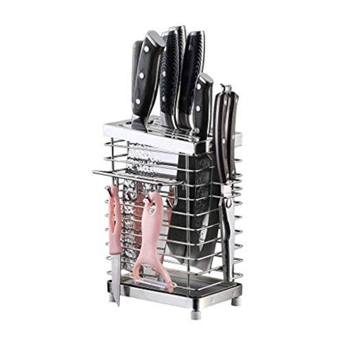 WANGSHAOFENG Rack de Soporte de Cuchillo con 6 Ranuras de Ganchillo, Cuchillos de Acero Inoxidable Bloque de Almacenamiento sin Cuchillos 1105 Soporte Cuchillos Cocina