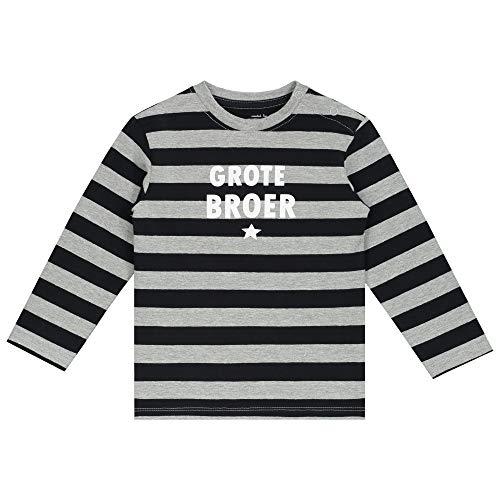 Prénatal Baby jongens shirt met lange mouwen 'Grote Broer' lange mouwen met ronde hals en drukknopen