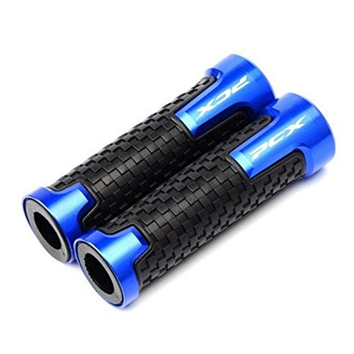 DZDJ Para Ho-nda PCX 150 125 PCX150 PCX125 2010-2020 motocicleta CNC aluminio 22mm Agarraderas mango de goma Gel agarre agarre de mano Grips (color: 1)