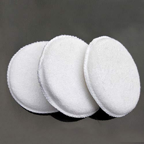 Greyghost Soft Microfiber Polishing Car Care Sponge Wash White Cotton Wax Car Applicator