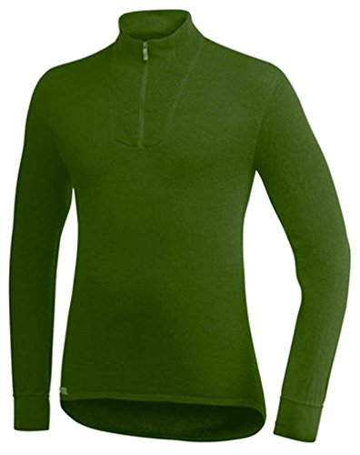 Woolpower 400 Turtleneck Long Sleeve Zipp Shirt Men - Thermounterwäsche, Grün, XXL