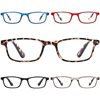 5-Pack K Kenzhou Anti Glare Filter Lightweight Reading Glasses