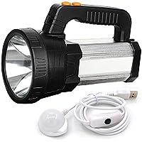 BigSun USB Rechargeable LED Flashlight (Silver)