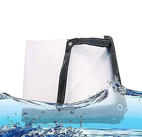 Glass Clear Tarpaulin Clear Waterproof Cover Tarp Tarpaulin Sheet, Heavy Duty Dustproof Rainproof Tarpaulin,Anti-aging Insulation PE For Camping Fishing Gardening (Color : Clear, Size : 2Mx2M)