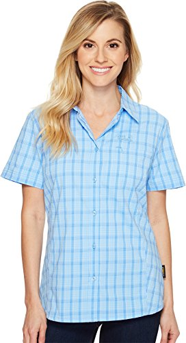 Jack Wolfskin Damen Centaura Stretch Vent Shirt W Hemd, cool Water Checks, XS