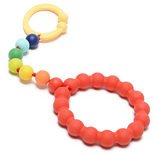 Chewbeads - Gramercy Baby Teething Car Seat Toy and Stroller Toy (Rainbow). 100% Safe Silicone Infant Teething Toy for Car Seats and Strollers. BPA Free