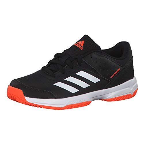 adidas Performance Court Stabil Handballschuh Kinder schwarz/orange, 39 1/3 EU - 6 UK - 6.5 US