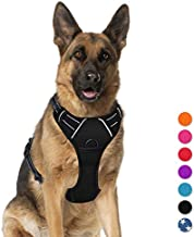 No Pull Pet Harness Dog Harness Adjustable Outdoor Pet Vest 3M Reflective Oxford Material Vest for Dogs Easy Control for Small Medium Large Dogs (XL) BARKBAY