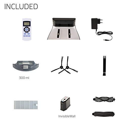 ILIFE A6 Saugroboter   automatischer Staubsauger Roboter   Lamellen-Bürste für Tierhaare   Fallschutz   Raumtrennungs-Sensor   72mm flach   Bis zu 160min. staubsaugen   Beutellos   mit Ladestation - 9