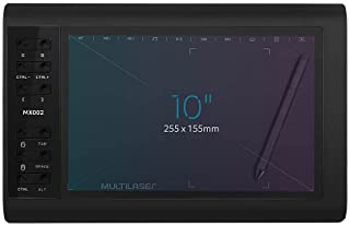 Mesa Digitalizadora Criativa Plus 10 Polegadas Multilaser - MX002, Preto