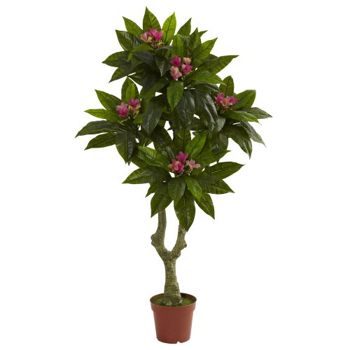 Nearly Natural 5394 5ft. Plumeria Tree UV Resistant (Indoor/Outdoor)