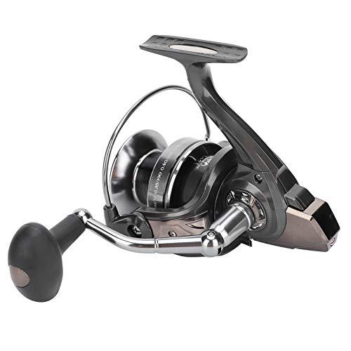 BOTEGRA Carrete Giratorio de Pesca, Carrete Giratorio Ligero de Alta Velocidad fácil de Usar para depósito/río/Pesca(HQ6000)