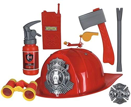 Party Discount kor47153.00 Pompiers Set de 8 Pièces