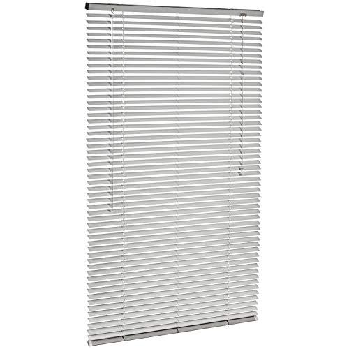 Amazon Basics - Persiana veneciana de aluminio, 80 x 130 cm, Plateado