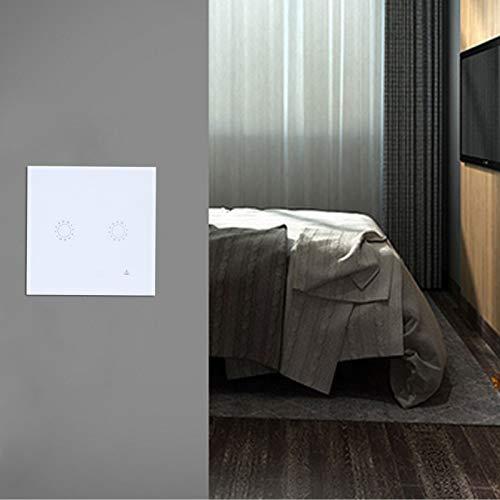 Yisenda Interruptor de Pared, Interruptor Inteligente WiFi 2200W Reino Unido Enchufe 95‑240VAC para la mayoría de Las escenas para Alexa y Echo Dot/Google Home/IFTTT Roqi