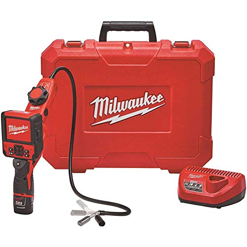 """Milwaukee Electric Tool 2317-21 Milwaukee M12 M-Spector Flex Inspection Camera Cable with Pivotview Kit, 3', Plastic, 13.58"""" x 5.35"""" x 17.28"""""""