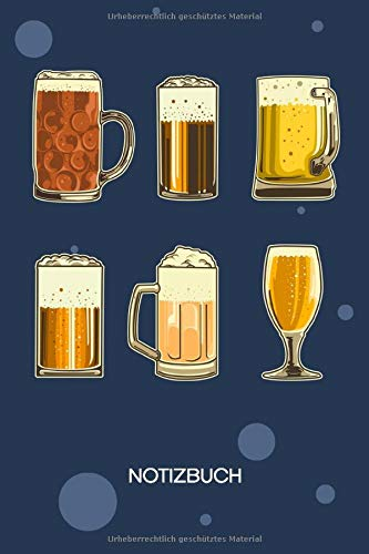 NOTIZBUCH A5 Blanko: Bierliebhaber SKIZZENBUCH - 120 Seiten für Notizen Skizzen Zeichnungen - Glas Bier Notizheft Biersorten - Saufen Geschenk für Biertrinker Bierliebhaber Säufer