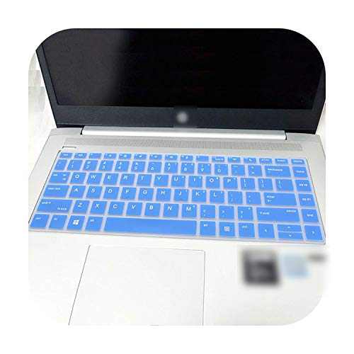 Laptop Keyboard Cover Skin for Hp Probook 440 G5 14' / Probook X360 440 G1 / 440 G6 / 445 G6 2019/640 G4 14 Inch-Blue-