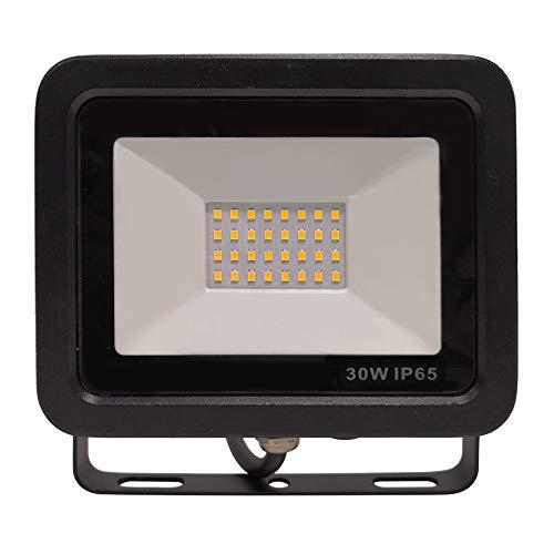 Aufun 30W LED Strahler Kaltweiß - Superhell LED Fluter Außenstrahler IP65 wasserdicht Aluminium Scheinwerfer Licht - für Garten,Garage,Hof oder Hote