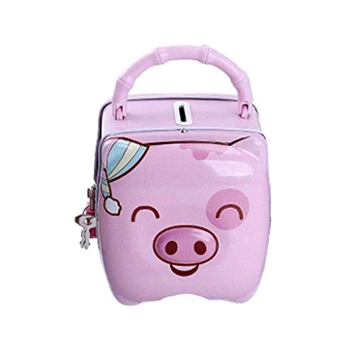 GFDFD Piggy Bank,Cartoon Pig Bank Adorable Coin Money Saving Box Desktop Ornaments Decor