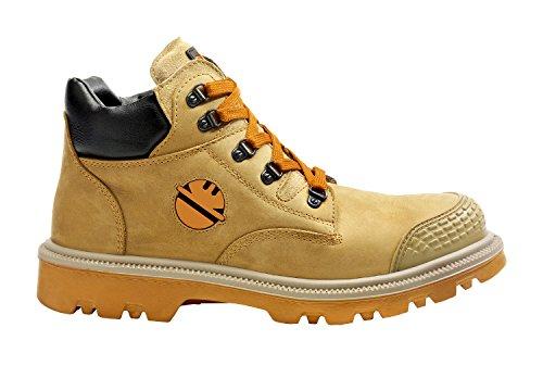 Chaussure de sécurité haute Dint S3 HRO SRC ,Or,41 EU