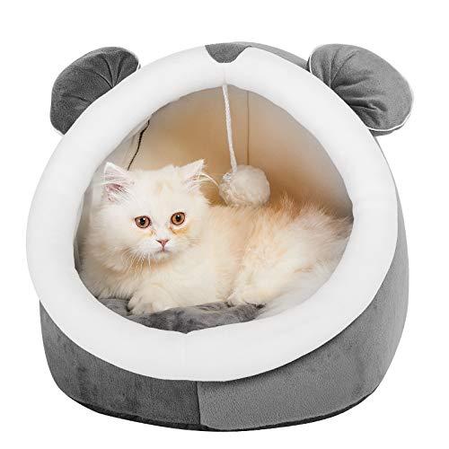 猫ハウス 猫 ベッド ドーム型 可愛 猫の形 ペットベッド 寒さ対策 保温防寒 快適 柔らかい 暖かい 用寝袋 滑り止め 洗える ペットハウス ベッド マット兼用 小型犬 キャットハウス ペット 小屋 室内 猫寝床 休憩所