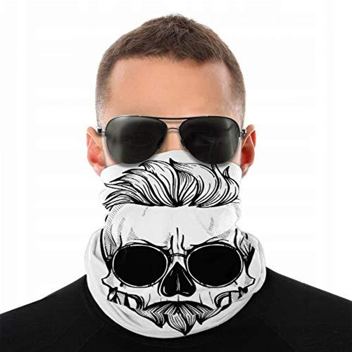 NVIKGRHF Ciclismo Cuello Polaina Cráneo Hueso Fresco Tatuaje Miedo Hombres Bandas de Pelo Bandas Elásticas Anti Polvo Multifuncional para Festivales de Música/Raves/Equitación/Aire Libre / Deportes