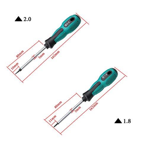 4PCS 16CM Triangle Magnetic Tip Screwdriver Anti-slip Repair Tool(1.8 2.0 2.3 3.0)
