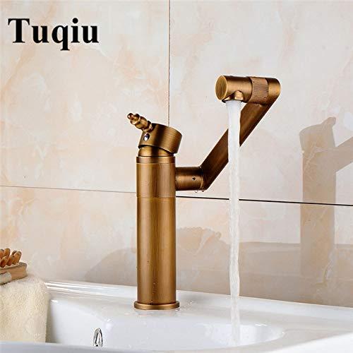 G0000D - Grifo de lavabo grifo de agua grifo de baño giratorio 360 grados antiguo grifo de baño grifo monomando grifo mezclador de fregadero caliente y frío fregadero de agua grúa de alta calidad y envío gratis