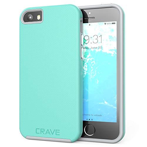 Crave iPhone SE [2016](1st gen) Case, Dual Guard Protection Series Case for iPhone 5 / 5s / SE - Mint