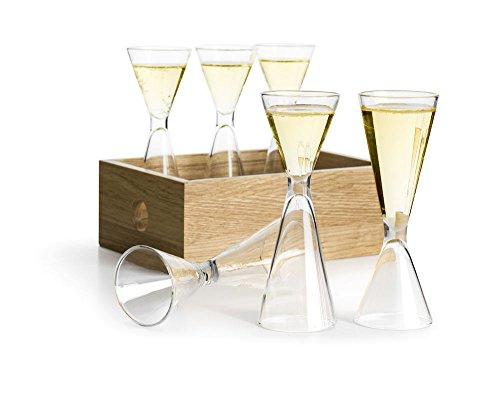 Sagaform Nature Schnapsglas Set, Glas, Klar, 2-4 cl
