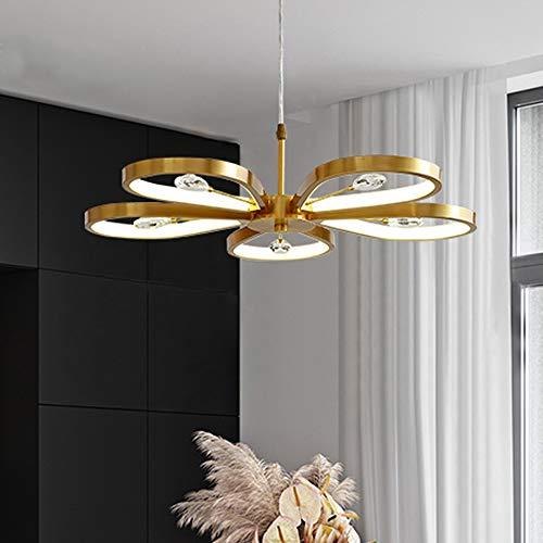 LED Colgante de luz cobre Lámpara colgante cristal Decoración Lámpara de techo comedor Comedor Regulable candelabro dormitorio sala lámpara Ajustable en altura Lámpara de comedor Ø60CMxH18CM