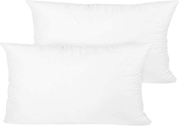 FGDJEE 12x20 Inch Throw Pillow Insert Set Of 2 Pillow Form Insert Washable Cotton Plush Rectangle Pillow Inserts Pillow Insert Decorative Pillow Insert Accent Pillow Insert Replacement Pi
