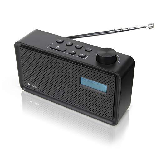 DAB/DAB Plus/UKW Radio Mini Tragbares Digitalradio mit Akku und USB Aufladung für 4 Stunden Wiedergabe, Netz und Batteriebetrieb